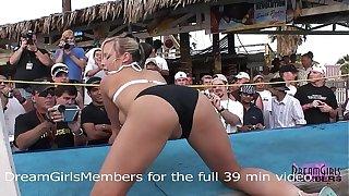 Normal Spring Break Bikini Mel�e Turns Into Wild Freaky Sex Show