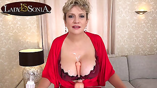 With reference to jerk off instructions from busty mature Lass Sonia