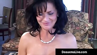 Busty Texas Cougar Deauxma Squirts Apropos Fan Cock Up Her Ass!
