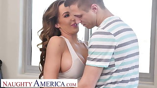Naughty America Richelle Ryan factory up a sweat fucking