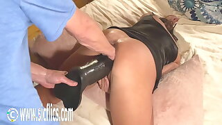 Double Fist added to Colossal Dildo Fucked Wife