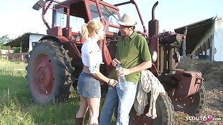 Farmers Daughter Fuck Outdoor Anal by White Monster Flannel Guy
