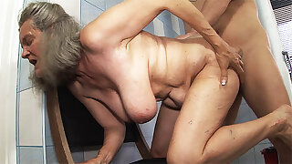 domineer 83 year aged mom tit fucked