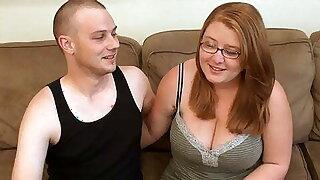 Hot BBW Girlfriend Nigh Glasses, First Time Porn