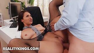 Goddess Bella Rolland Rides Her Colleague's Hard Dick