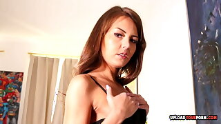 Stepsister in stockings teases me for pastime