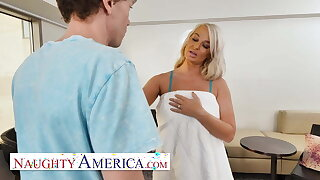 Naughty America - London River needs some COCK!!!