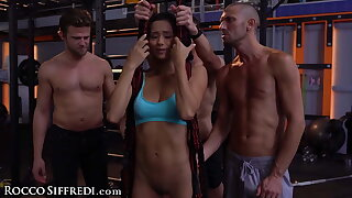 Veronica Leal Gets Gangbanged In A Gym After a long time Training