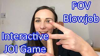 POV Blowjob from Clara Dee - JOI Games
