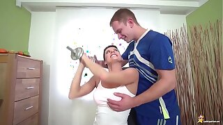 sporty mom brutal fucked by will not hear of stepson
