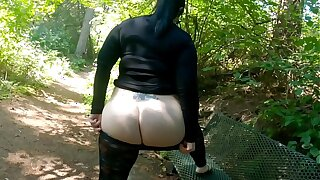 Sheer Leggings Nature Walk With Fat Booty Incandescent
