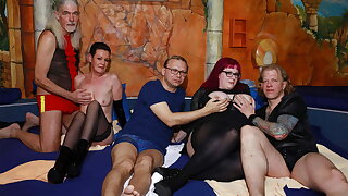 German swinger orgy in a sex route