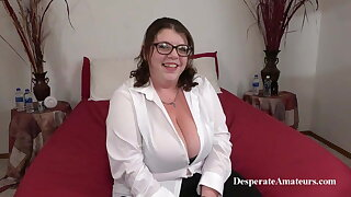 Casting Nikki, Regrettable Amateurs, BBW MILF with big tits on touching action
