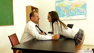 Seducing my mature teacher wide detention (short version)