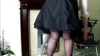 One of Sally's hoary videos, in see-through blouse