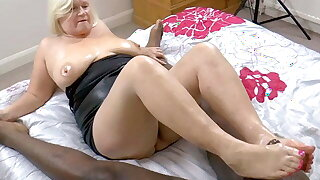 GRANNYLOVESBLACK - Grandma Strokes Lubed Weasel words With regard to Trotters