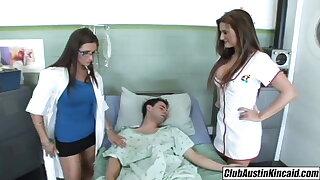 Big titty nurse Austin Kincaid, female adulterate fucks big rod