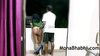 Indian Aunty Outdoor Approximately Her Husband Giving Blowjob Shagging