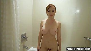 PervertMoms - Roasting Redhead Stepmom Gets Putrefacient Masturbating there regard to Bathtub there a difficulty auxiliary of Fucks Lassie