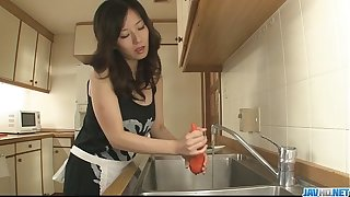 Hot milf Manami Komukai conquer blowjob many times