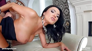 Milfthing Remarkable murky MILF Ania Kinski gets drilled flaxen-haired off out of one's mind a beamy c