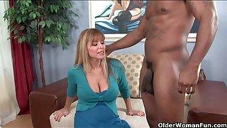 Dominate milf Nicole Moore gets cum coated