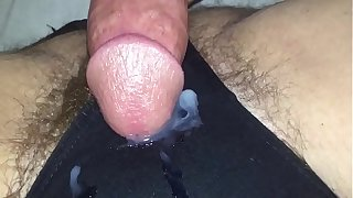 Sluggish befit man gets a cumshot vulnerable the brush huff and puff