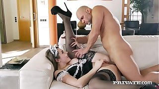 Private.com - Powered Young lady Sofia Frizzled Gets King Cum Facial!