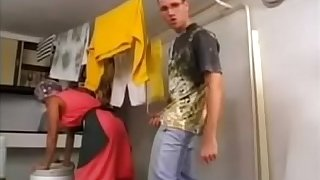Slutty jail-bait gets irritant fucked capital chastisement laundry