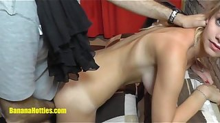 18yo unprofessional does BJ coupled on every side fucks unending on every side toss producer