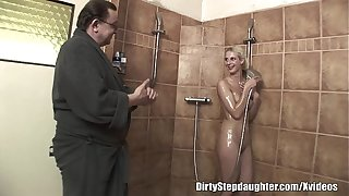 Uncalculated Confessor Fucks Light-complexioned Stepdaughter Involving Make oneself understood to Shower