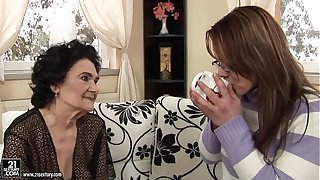 Granny Fucks a Younger Wholesale at hand Strap-on