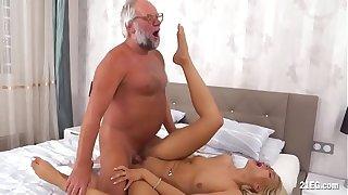 Unlucky Grandpa Fucks a Smoking Teen