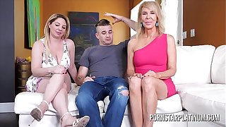 MILF Erica Lauren fucks her stepson and stepdaughter